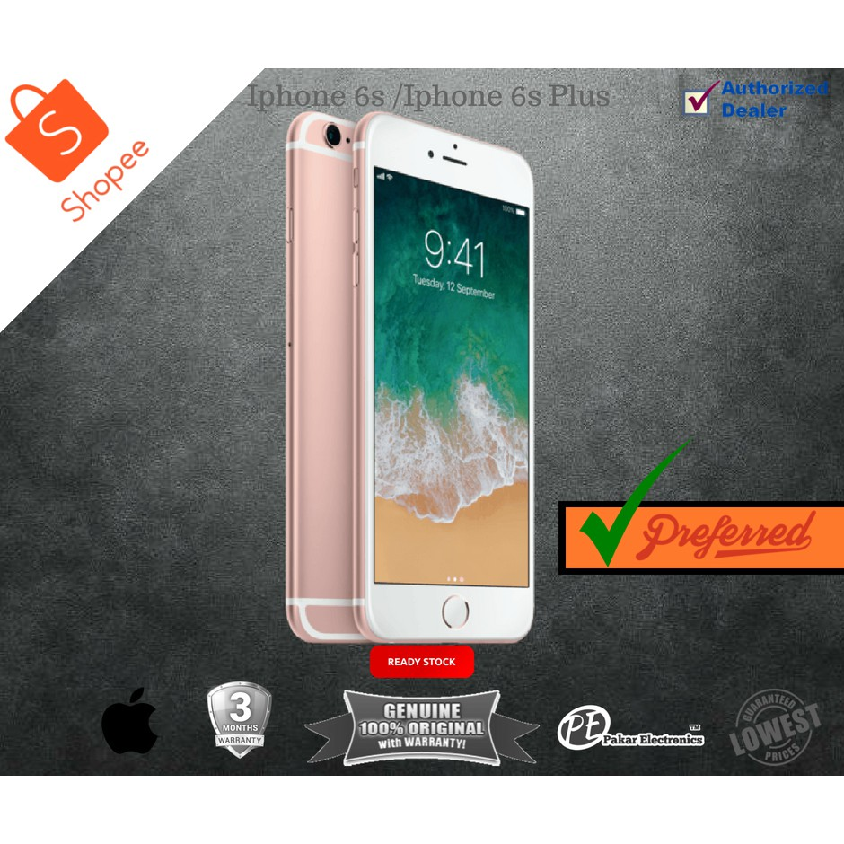 Apple Iphone 6 128gb 64gb 16gb Shopee Malaysia Hp 6s Plus No Finger Gold