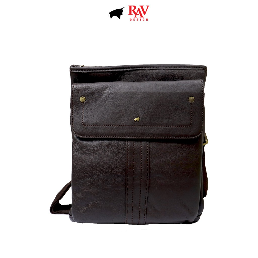 RAV DESIGN Men Genuine Cow Leather Sling Bag Brown |YRC058G1