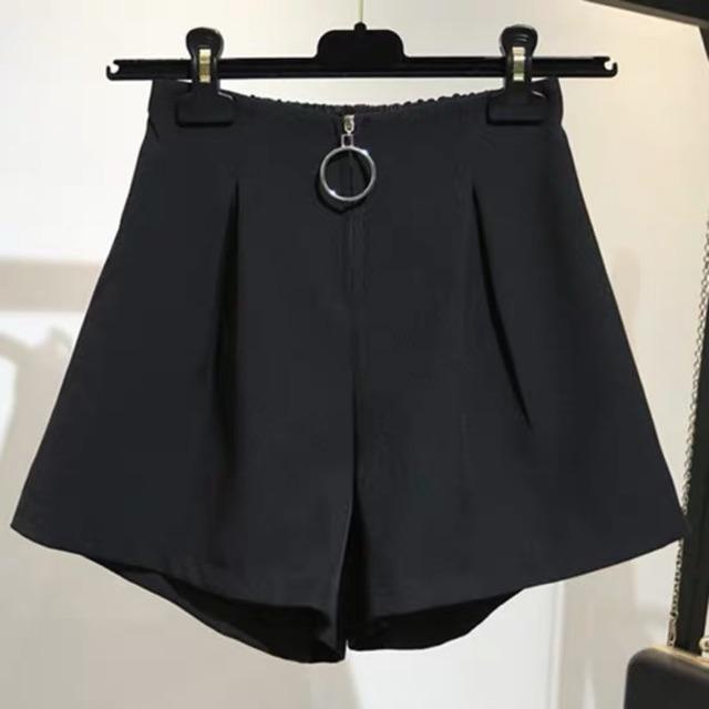 [L~4XL]Plus Size Korean High Waist shorts 特加大码短裤女胖妹妹200斤夏装胖mm宽松阔腿裤韩版高腰a字热裤裙