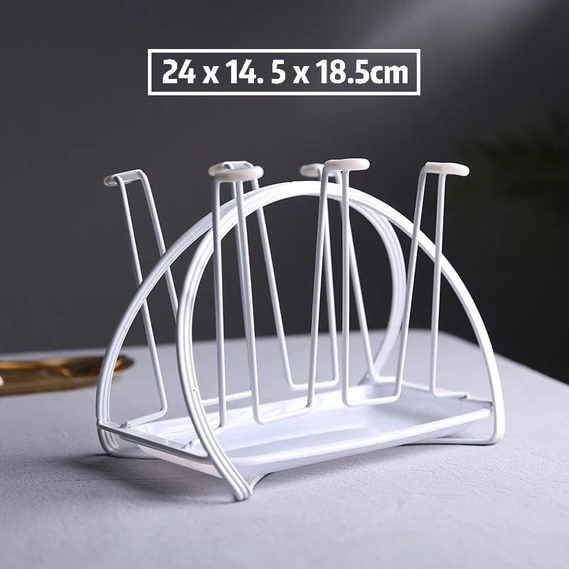 [ READY STOCK ]  Nordic Creative Water Cup Holder Mug Storage Glass Kitchen Jualan Murah Tray Simpanan Cawan Rack Raya