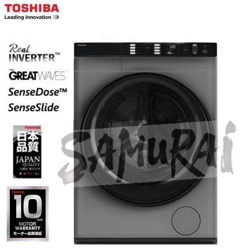TOSHIBA INVERTER FRONT LOADING WASHER 10.5KG TWBH115W4M