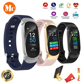 QW16 Bluetooth Smart Watch Fitness Tracker Heart Rate