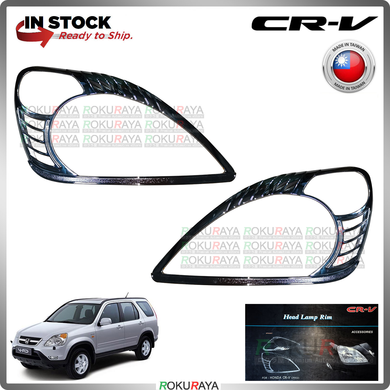 [CHROME] Honda CRV CR-V RD4-RD9 2002-2006 WELLSTAR ABS Plastic Front Head Lamp Garnish Moulding Cover Trim Car