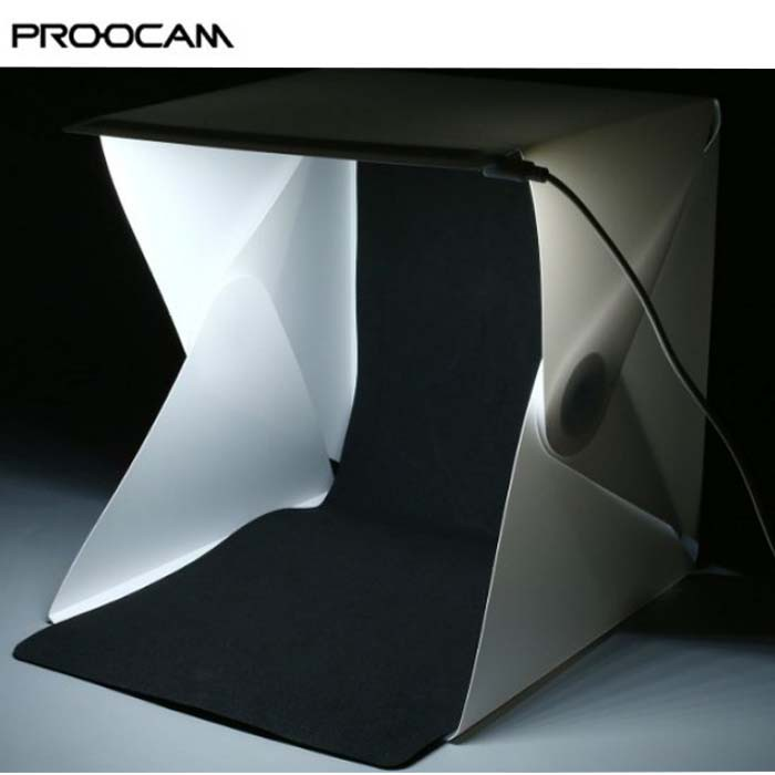 Proocam EASYGO 40cm Portable Studio Photo Light Tent with LED Light (YTP-2)