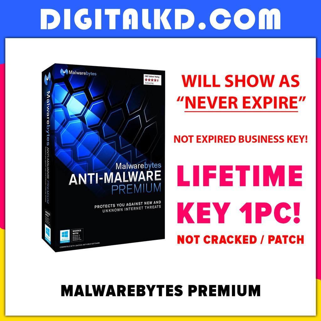 Malwarebytes Premium 2019-2020 for 1 PC (WILL SHOW NEVER EXPIRES)(NOT  BUSINESS EXPIRED KEY!!!)