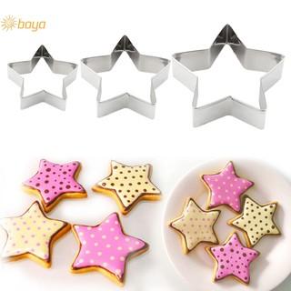 Boya 3 X Cookie Cutter Star Shape Sugarcraft Decorating Paste