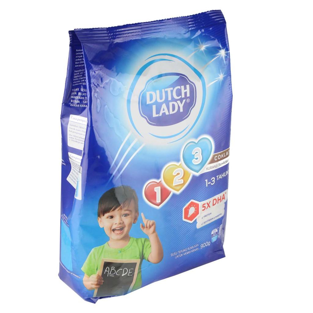 Dutch Lady Gum 123 Chocolate (900g)