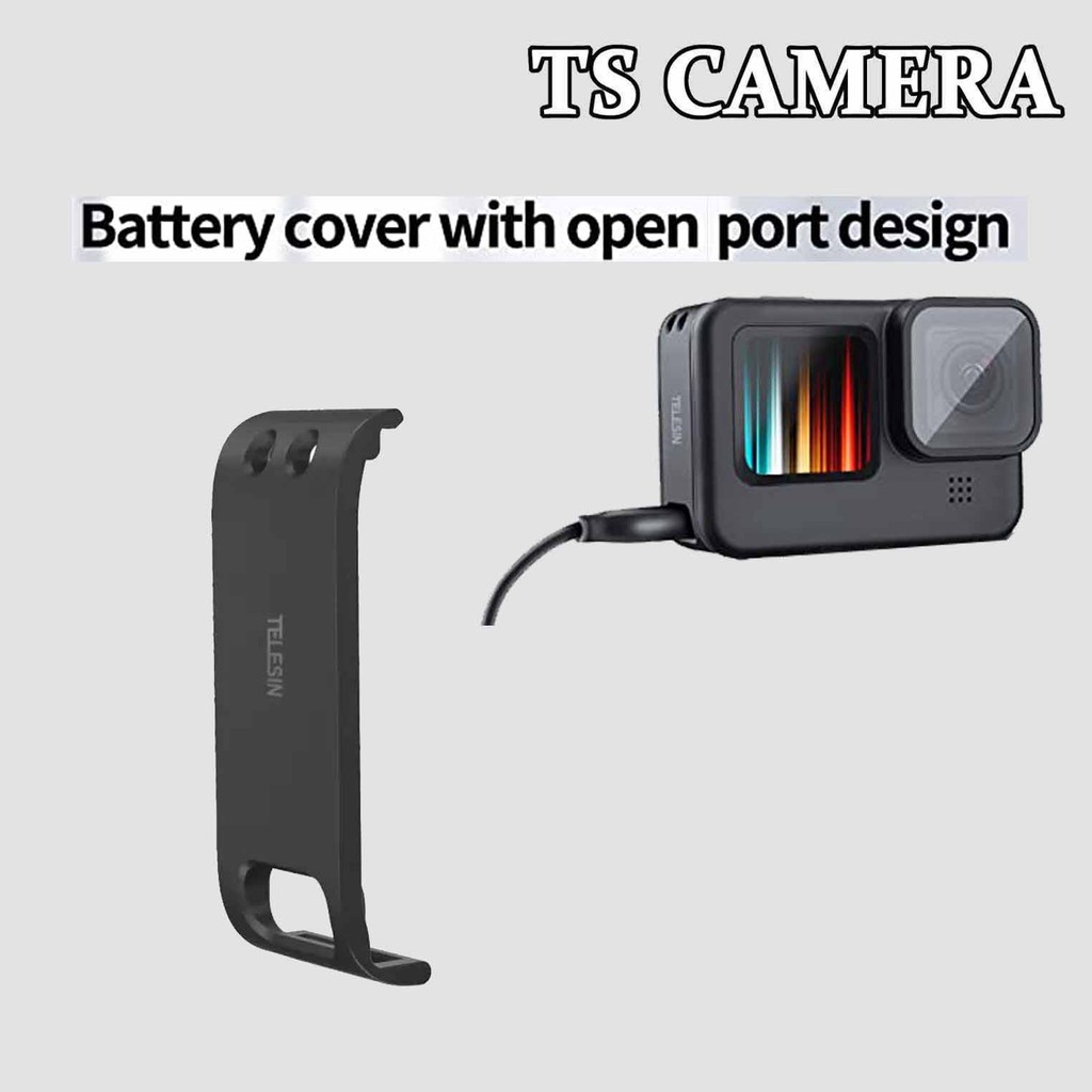 TELESIN GOPRO HERO 9 BATTERY COVER WITH OPEN PORT DESIGN / GOPRO HERO 9 BATTERY COVER