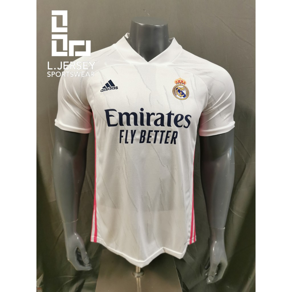 Real Madrid Men Home Season 20/21 CLIMALITE Fans Jersey