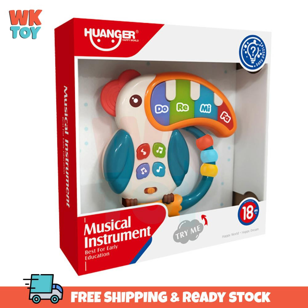 WKTOY Huanger Bird Baby Toddler Appease Baby Music Hand Toy Sound & Lights