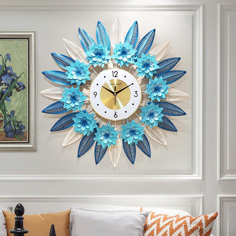 Sz Clocks Clocks Wall Clocks Living Room Home Fashion Wall Watches Art Nordic Pastoral Style Decorative Pendants Personality Creative Quartz Clocks Shopee Malaysia