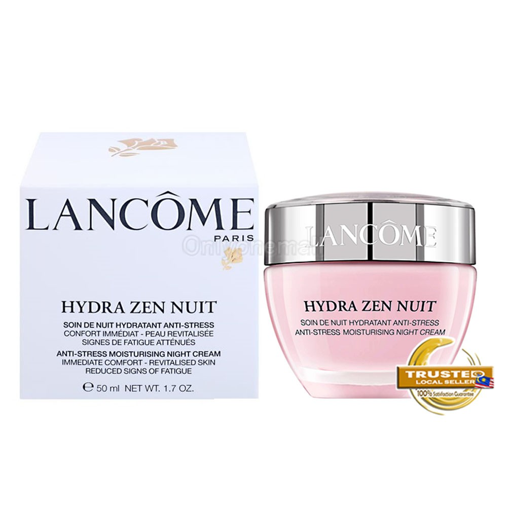 LANCOME Hydra Zen Anti-Stress Moisturising Night Cream 50ml (With Free Gift)