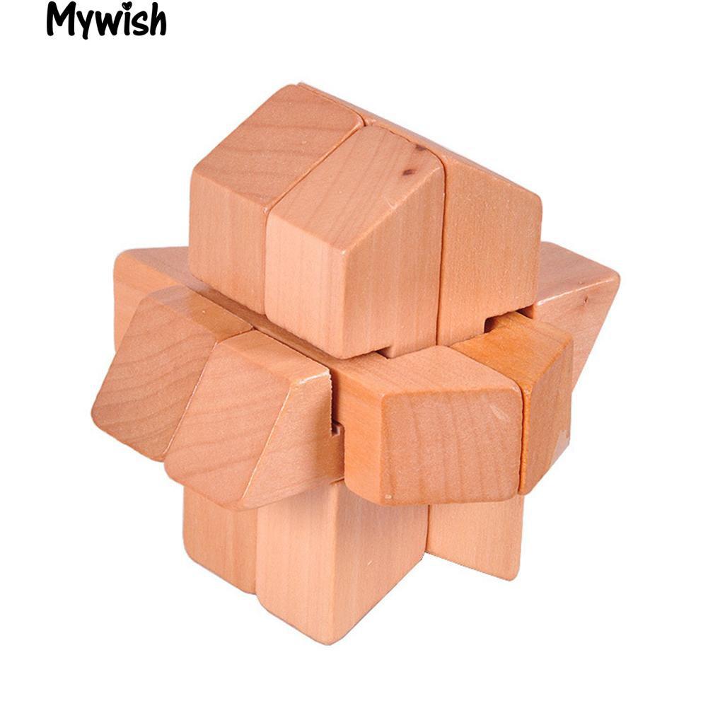 Wooden Kong Ming Luban Rocket Lock Brain Teaser Puzzle Educational Toy