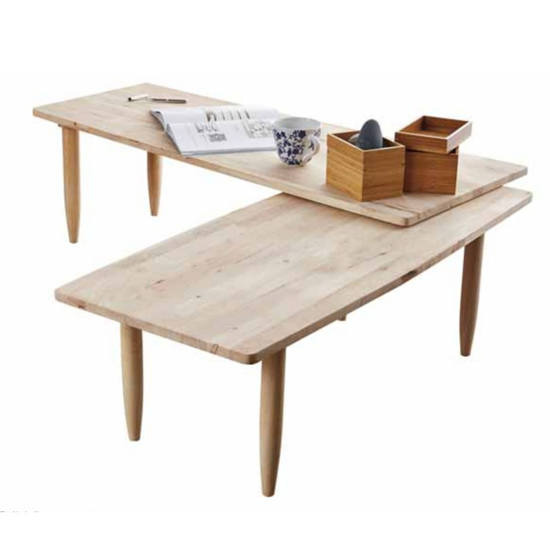 Furniture Direct BUSAN TWISTABLE SOLID WOOD COFFEE TABLE