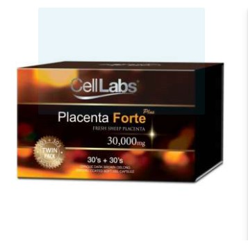 CellLabs Sheep Placenta Forte Plus 30000mg (30s + 30s) 3/2022