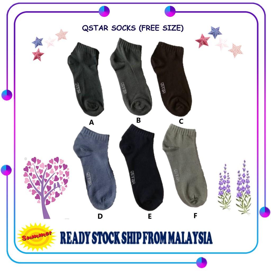 1 pairs Summer Unisex Free Size QStar Sport Cotton Men Women Sock Socks Stoking Perempuan Lelaki