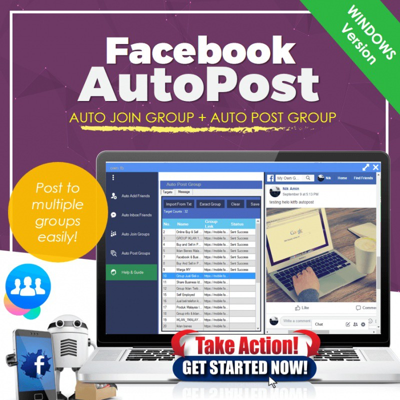 Software Viral Facebook Marketing AutoPost KitFB FBAuto Facebook Automation