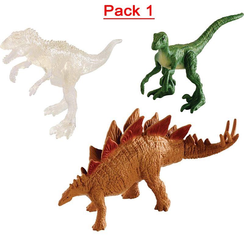 Triceratops Stygimoloch /& Met T-Rex Jurassic World Mini Action Dinos 3-Pack
