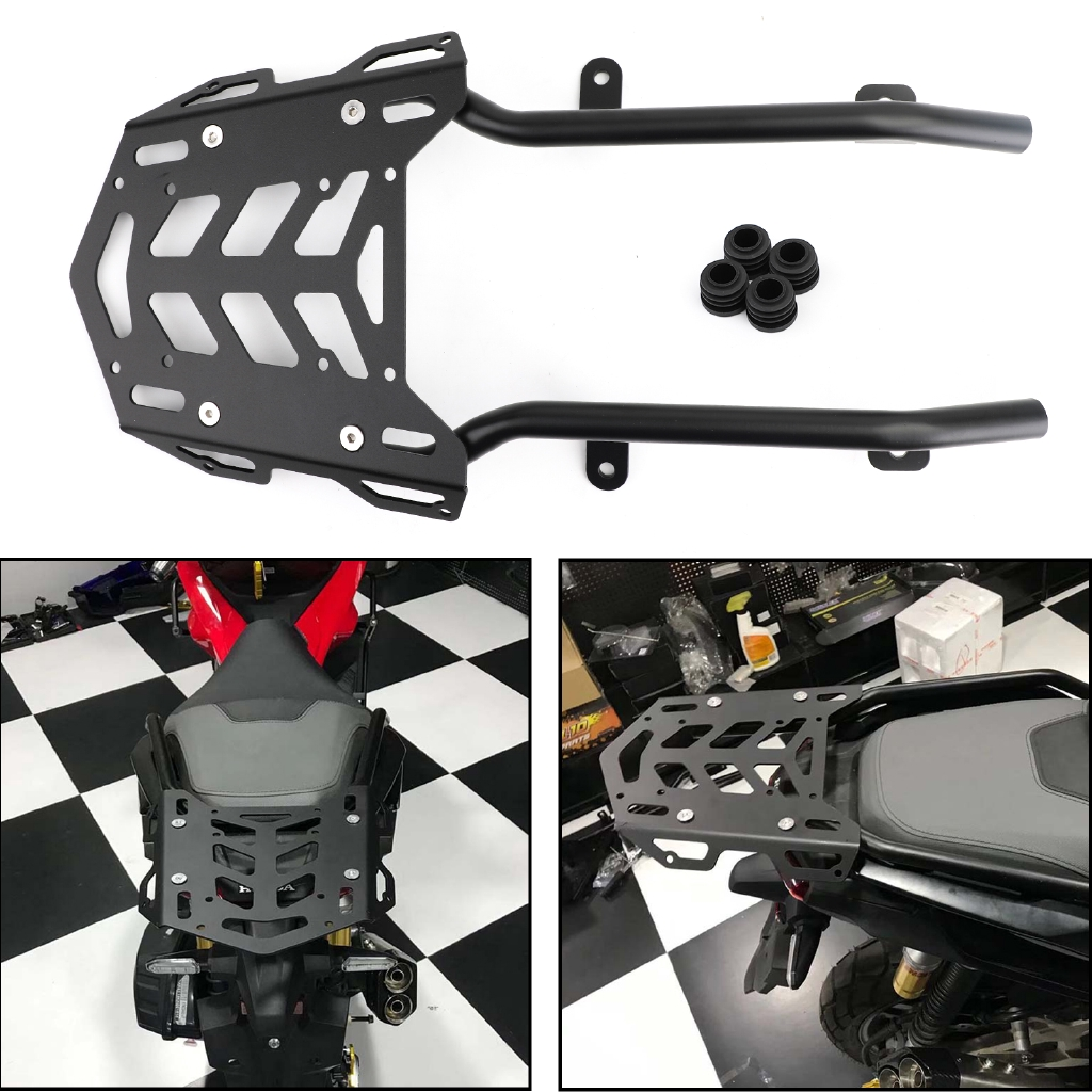Areyourshop Black Cargo Luggage Rack Carrier Top Case Bracket for K-T-M Duke 790 2018 2019
