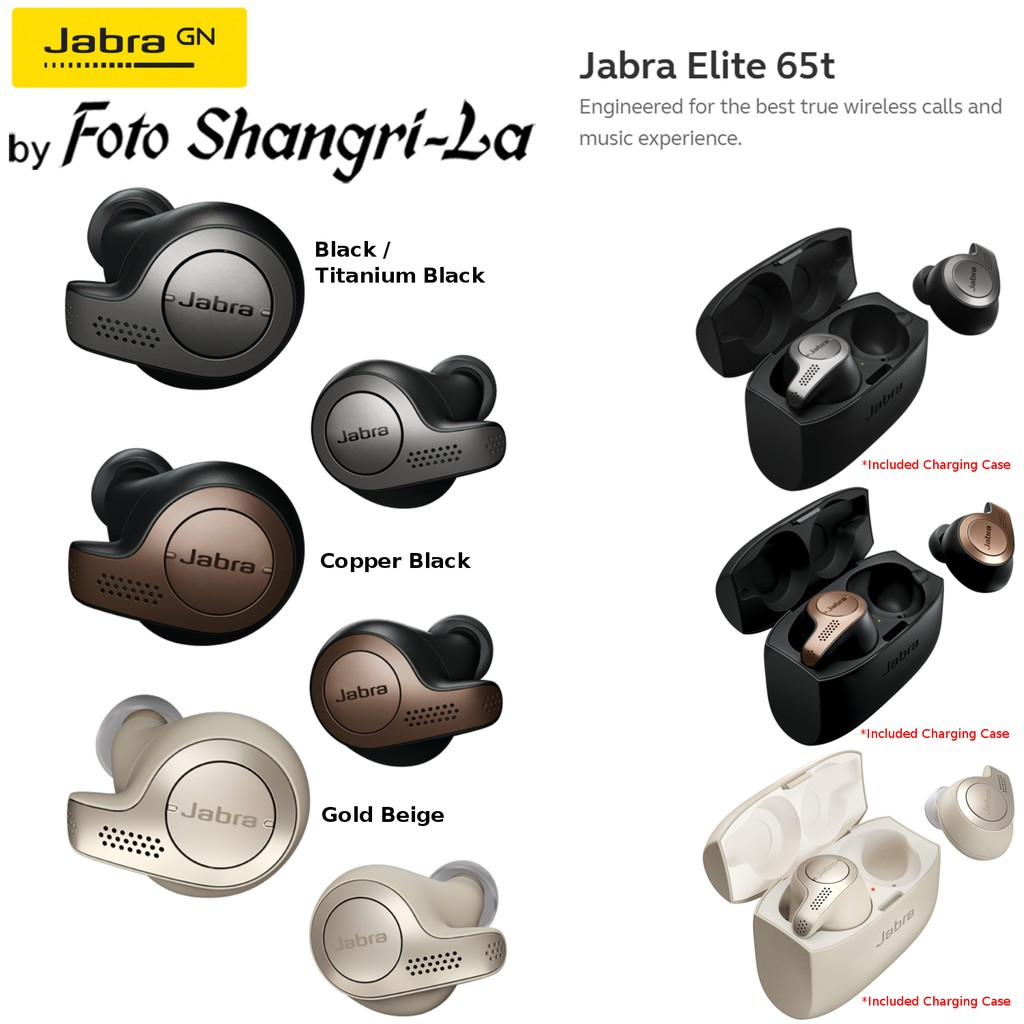 Jabra Elite 65t Wireless Bluetooth Stereo In-Ear Earphone Wind Noise  Reduction