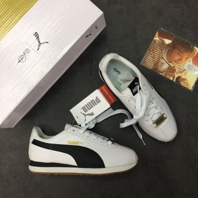 New Arrival GENUINE Puma X BTS Smash women s shoes Breathable Sneakers  Ready  986691109