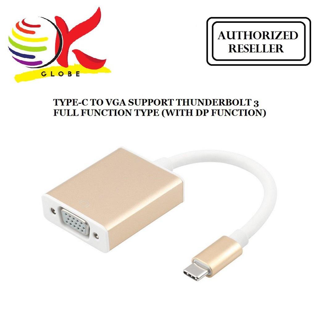 OTG ADAPTER USB 3 1 TYPE-C CONVERTER TO VGA - DESKTOP PC LAPTOP NOTEBOOK   TC/VGA