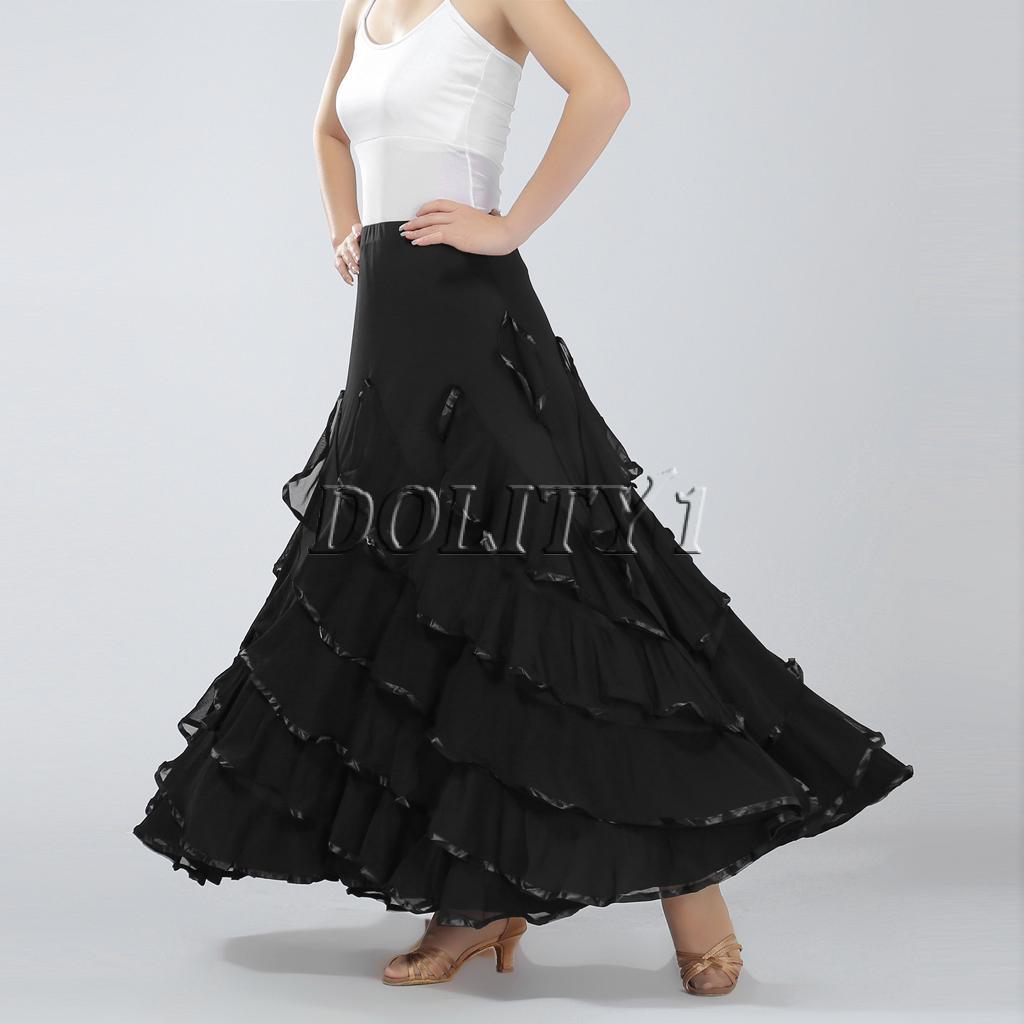 7df6d41272a3d Latin Tango Rumba Samba Ballroom Salsa Dance Sling Dress Fringes ...