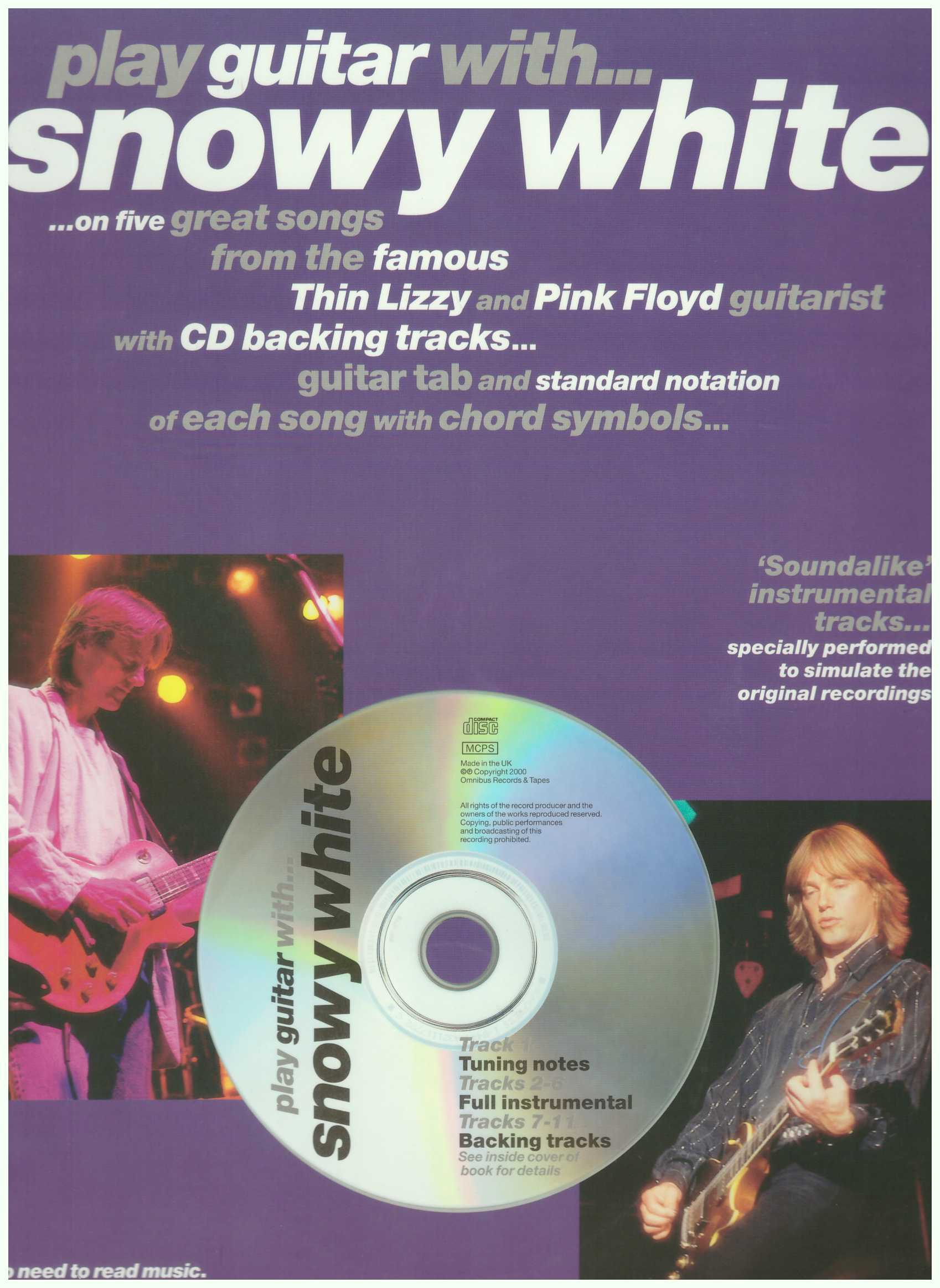 Play Guitar With... Snowy White / Vocal Book / Voice Book / Guitar Book / Tab Book / Guitar Tab Book
