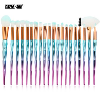MAANGE 20 Pcs/kits Cosmetis Makeup Nylon Hair Brush Set Contour Brushes