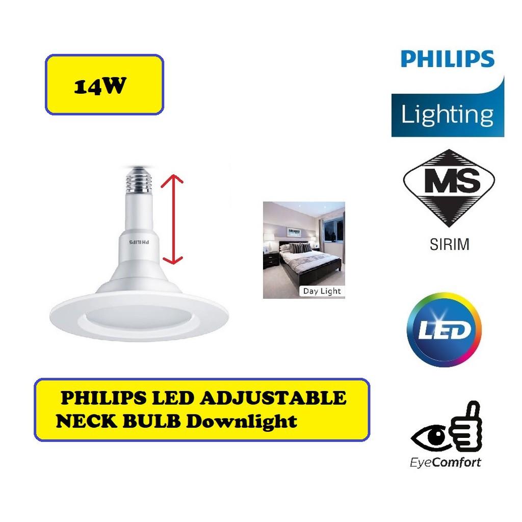 14w Philips Led Adjustable Neck Bulb Downlight Down Light Shopee Malaysia