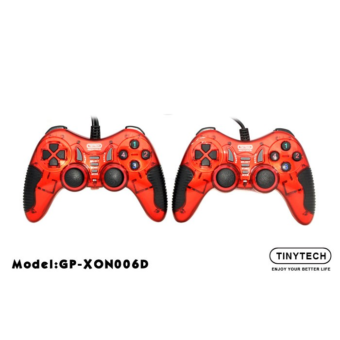 Official Tinytech GP-XON006 Double Shock PC USB Connection PC Controller ***Plug & Play Gamepad Joystick For PC Game