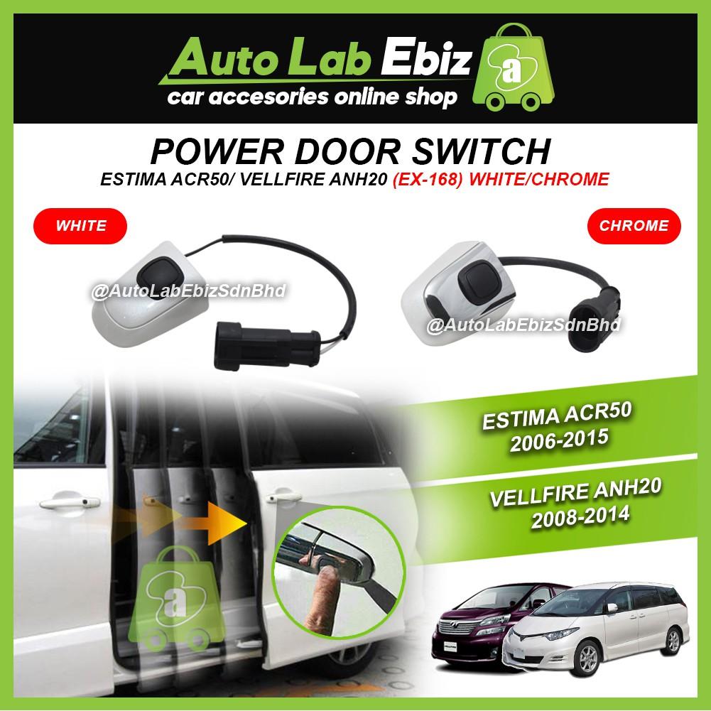 Power Door Switch (White & Chrome) - Toyota Estima ACR50 2006-2015 / Vellfire ANH20
