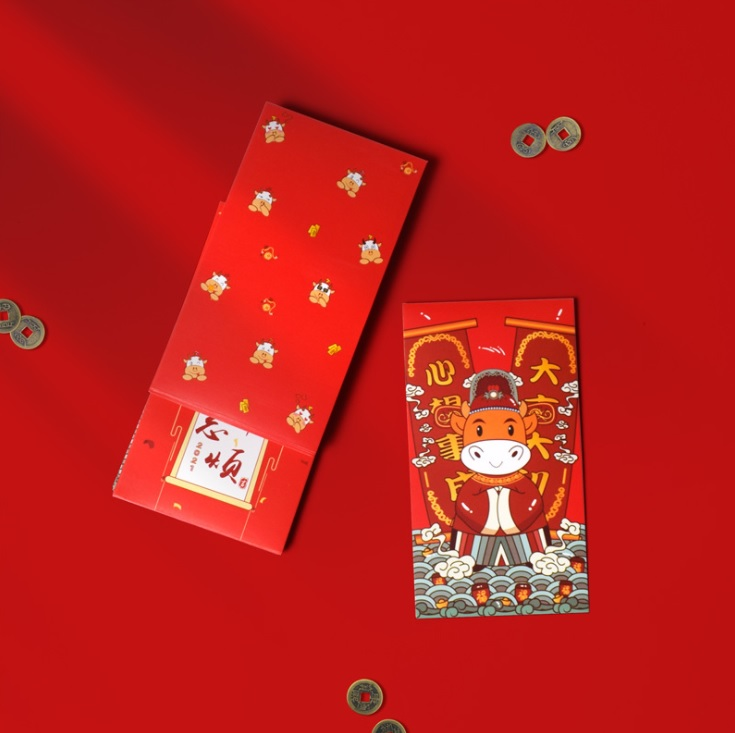 2021 OX MICE YEAR CNY CREATIVE RED PACKET ANG POW PACK 6PCS CHINESE NEW YEAR MEDIUM & BIG SIZE THICK QUALITY 3D