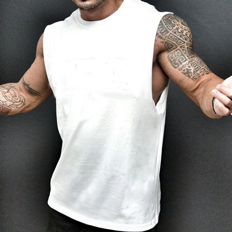 Men's Sports vest Bodybuilding Sleeveless Loose Fitness vest JIXIA