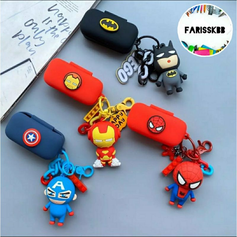 QCY T5 T5S SILICONE CASE DOLL CASING T5 MARVEL DESIGN CASING EARPHONE CASE EARPHONE SILICONE CASE QCY T5 PROTECTIVE CASE