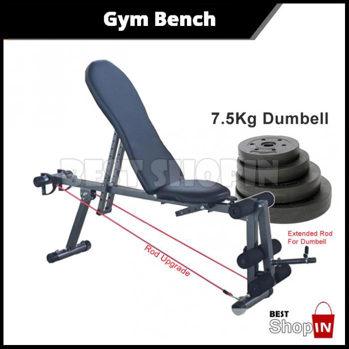 Super Adjustable Gym Abs Exercise Sit Up Bench Fitness Chair 7 5Kg Dumbbell Creativecarmelina Interior Chair Design Creativecarmelinacom
