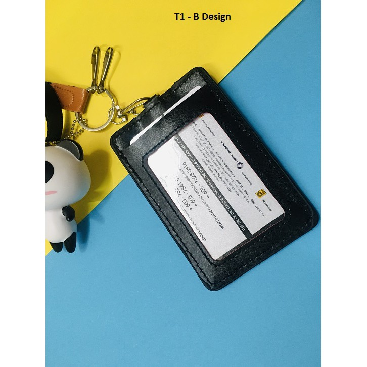 ID Badge Lanyard Name Tag Key Card Holder Keychain Type 3 Polar Bear White/ Yellow/ Blue/ Red