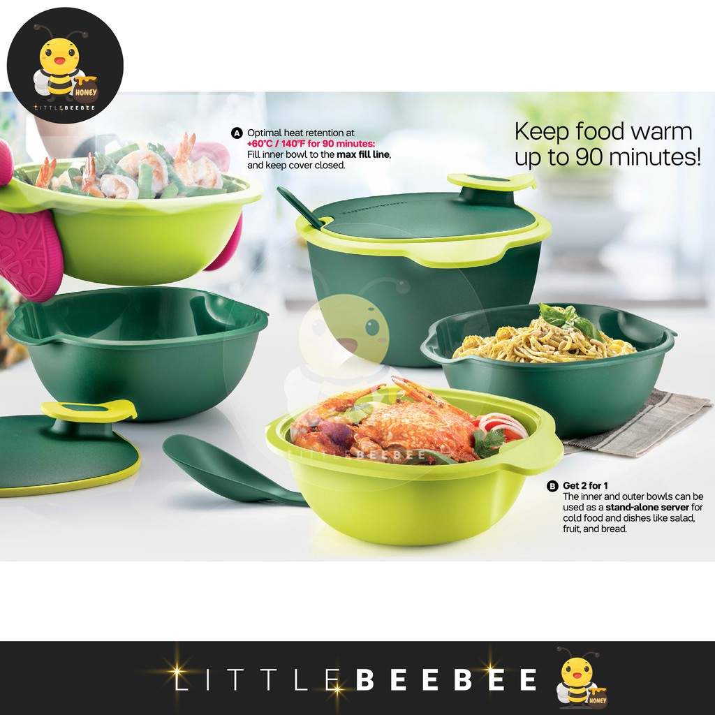 Tupperware Warmie Tup Serving Set with Gift Box