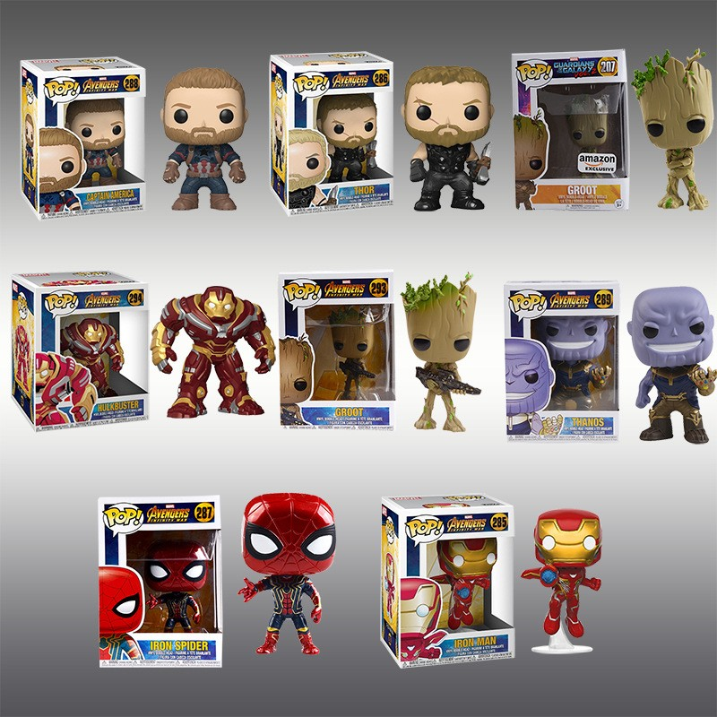Funko POP Avengers 3 action figures figurines Thanos Thor Groot  collectibles toy
