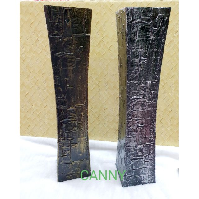 ⚱ Pasu Kayu Tinggi 60cm x 12cm Colour Dark Gold , Silver ⚱