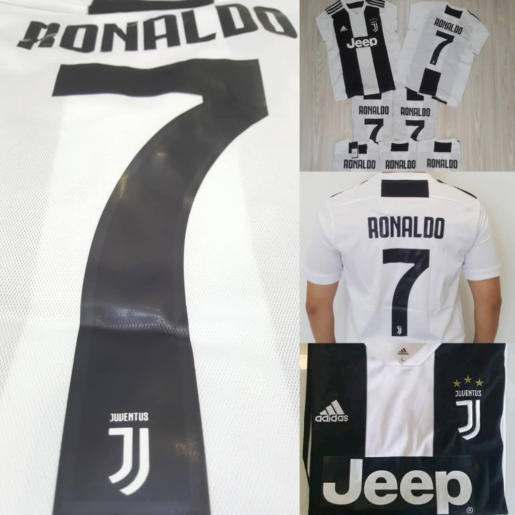 more photos 9f265 9d145 (READY STOCK) Juventus Home rRonaldo CR7 Kit Jersey