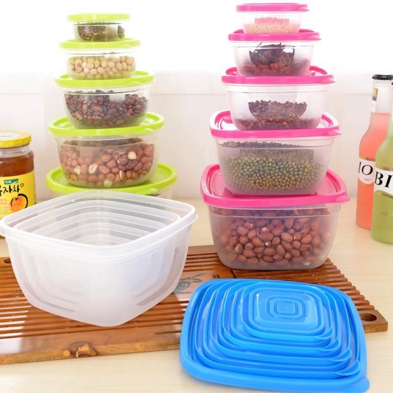 กล่องพลาสติกใส่อาหาร 5 ชิ้น