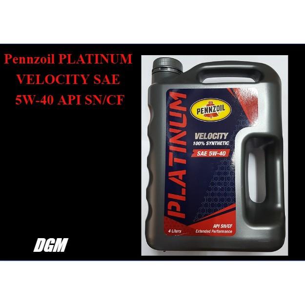 Pennzoil PLATINUM VELOCITY SAE 5W-40 API SN/CF