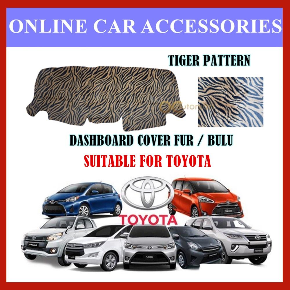 Customized Dashboard Cover Fur / Bulu Tiger Pattern For Honda Nissan Toyota Isuzu