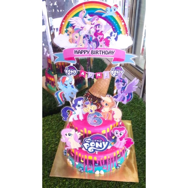 Tremendous My Little Pony Cake Topper Set Of 8 Shopee Malaysia Funny Birthday Cards Online Alyptdamsfinfo