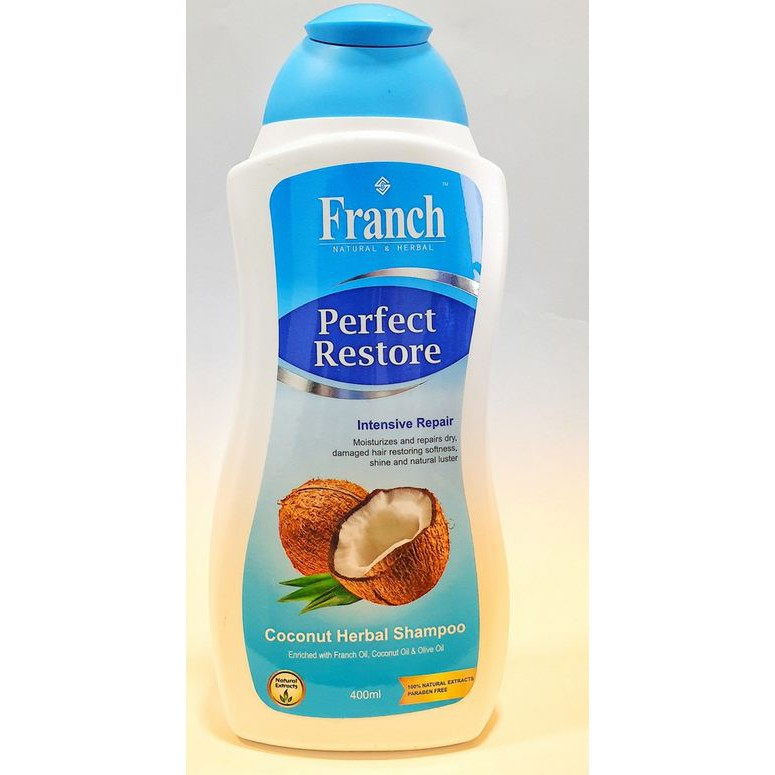 FRANCH PERFECT COCONUT HERBAL SHAMPOO 200ML or 400ML