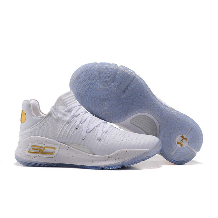 a3990f7b166 Girls Under Armour Curry 4 White Metallic Gold