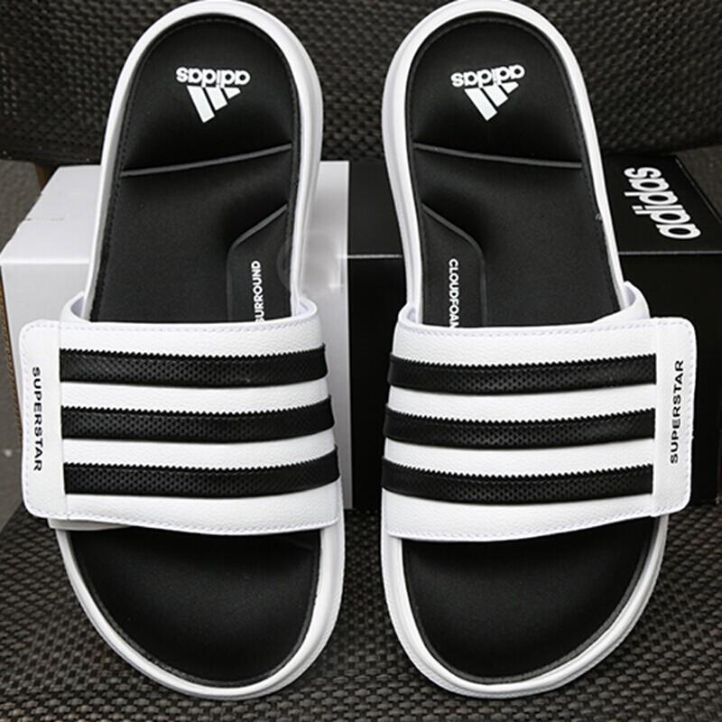 official photos e7aa1 166ee Adidas Superstar 3G Slides Men Women White Slip On Sandals