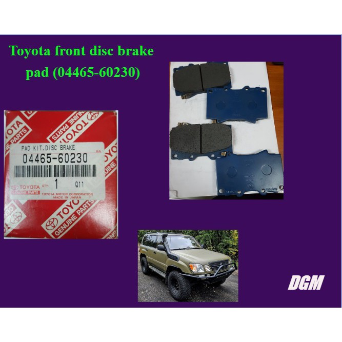Toyota front disc brake pad for Land cruiser LX470 - 04465-60230