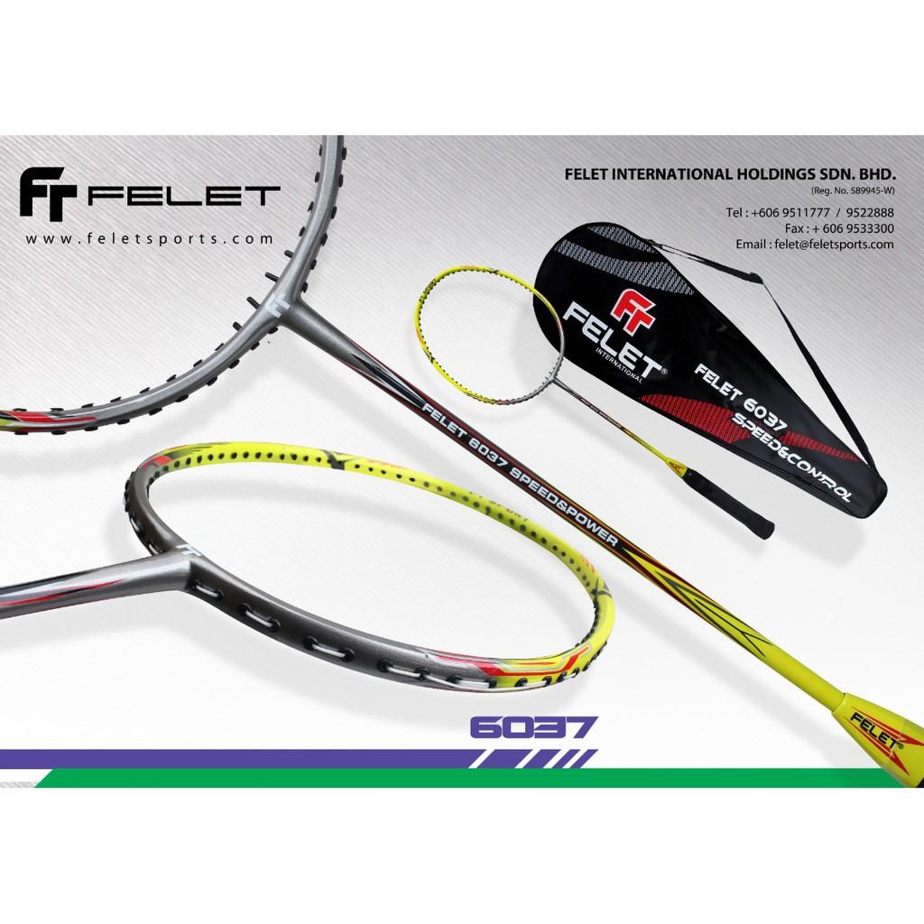 FELET FLEET BADMINTON RACKET 6033 6035 6036 6037 SPEED ...
